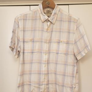 Lucky Brand pastel short sleeve mens shirt